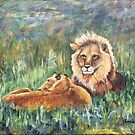 Lions Resting by Janis Lee Colon