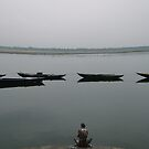 Lonely in Varanasi, India 2008 by Tash  Menon