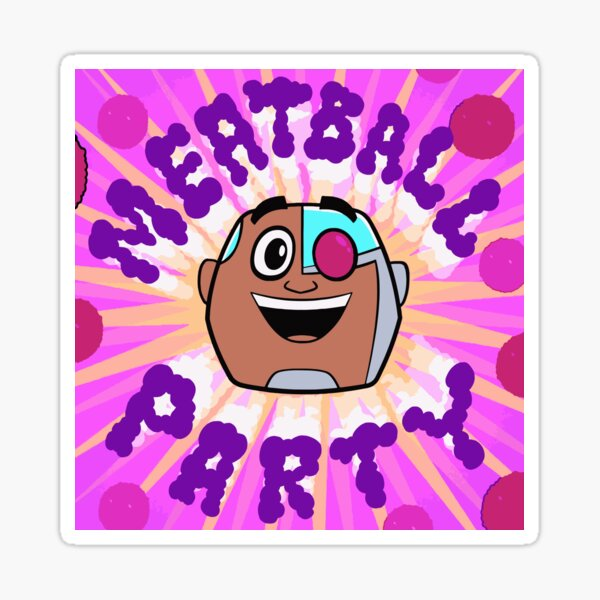 Meatball Party! Sticker