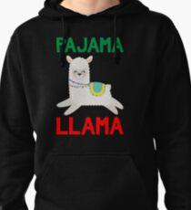 Pajama Llama - Cute & Funny Christmas Gift Llama Lover Llama Whisperer Gift Pullover Hoodie