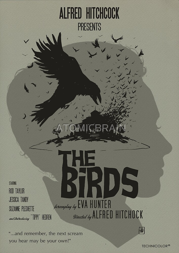 THE BIRDS- ALTERNATIVE POSTER by ATOMICBRAIN