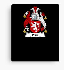 Price Coat of Arms - Family Crest Shirt Canvas Print
