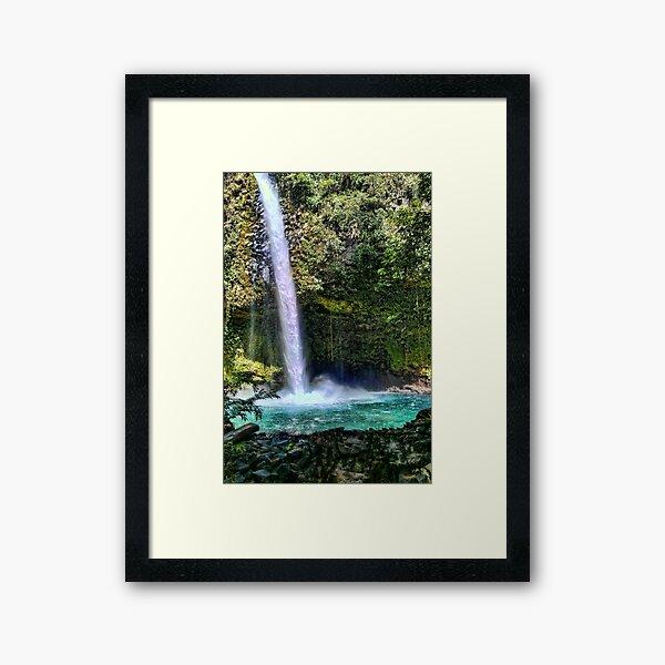 Costa Rica Waterfall Framed Art Print
