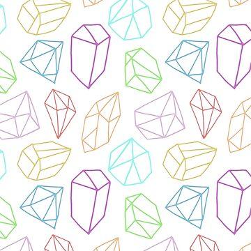 diamond in the rough (white) by artshenanigans