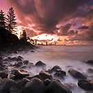 Burleigh Heads Sunset by Matthew Stewart