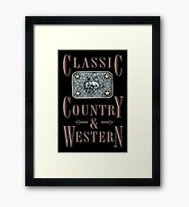 Classic Country & Western (Bucking Bronco) Framed Print