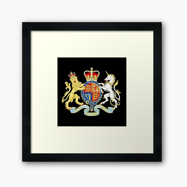 Royal Coat of Arms of the United Kingdom Framed Art Print