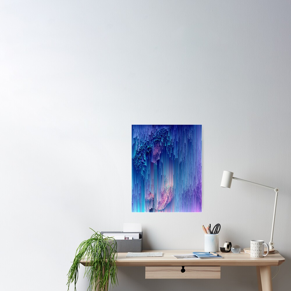 Fairy Glitches - Abstract Pixel Art Poster
