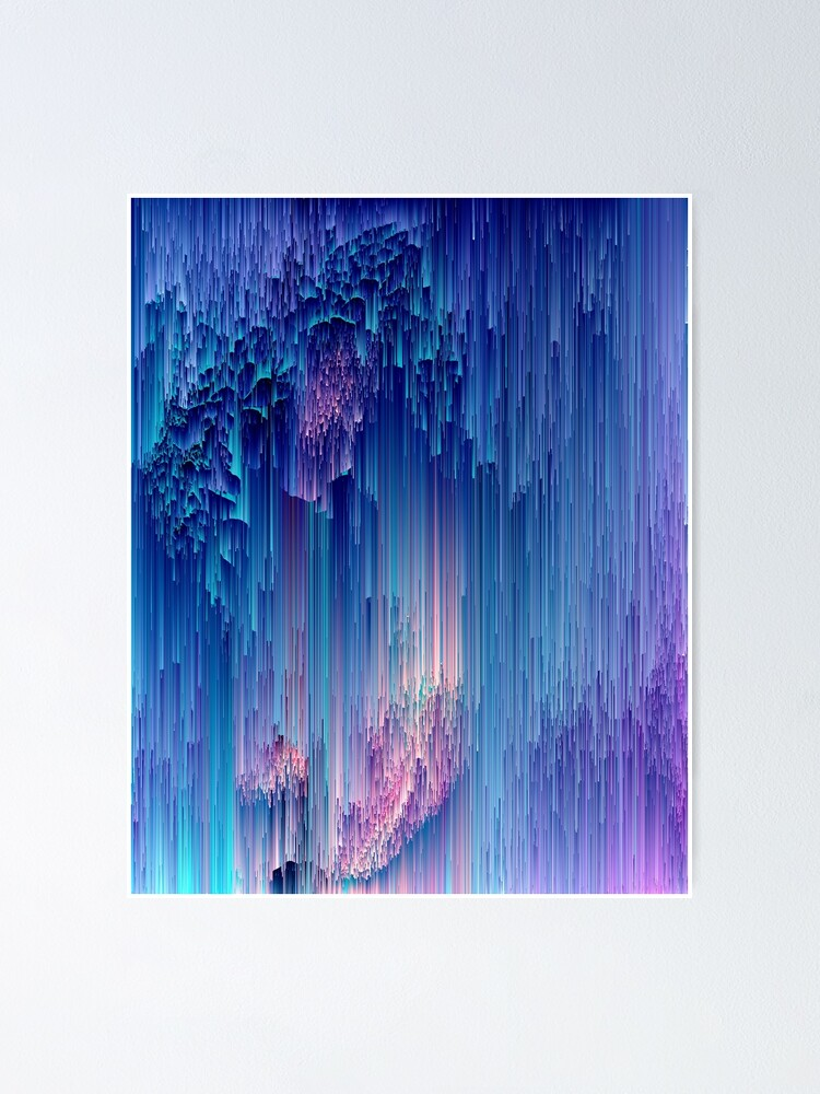 Alternate view of Fairy Glitches - Abstract Pixel Art Poster