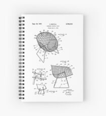 Iconic Mid Century Modern Flexible Contour Chair by Harry Bertoia Spiral Notebook