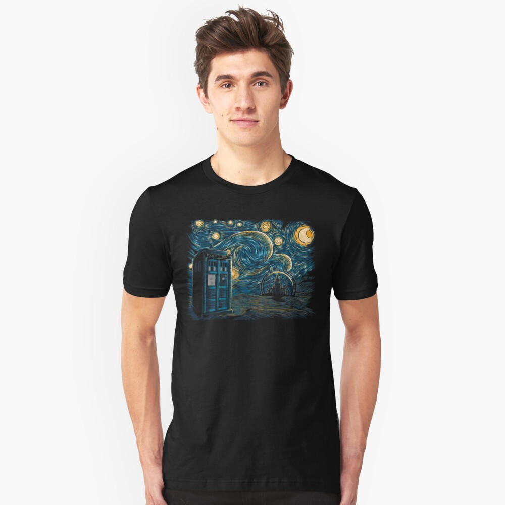 Sternenhimmel Gallifrey Slim Fit T-Shirt