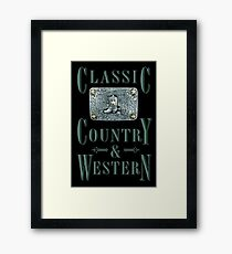 Classic Country & Western (Cowboy Boot) Framed Print