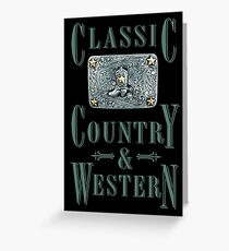 Classic Country & Western (Cowboy Boot) Greeting Card