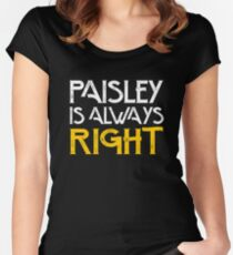 Paisley is always right Women's Fitted Scoop T-Shirt