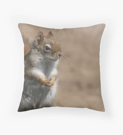 Proud squirrel Throw Pillow
