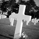 Tombstone in Omaha Beach War Cemetery (Normandy, France) by Arnaud Lebret