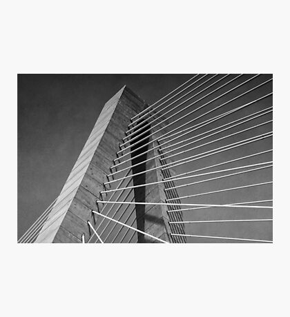 Towers and Cables (B&W) Photographic Print