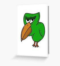 GRUMPY BIRD Greeting Card