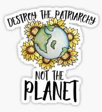 Pegatina Destruye el patriarcado, no el planeta