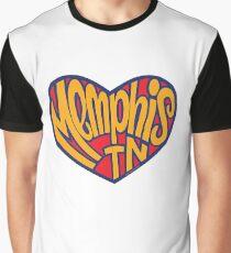 Memphis Tennessee Heart Graphic T-Shirt