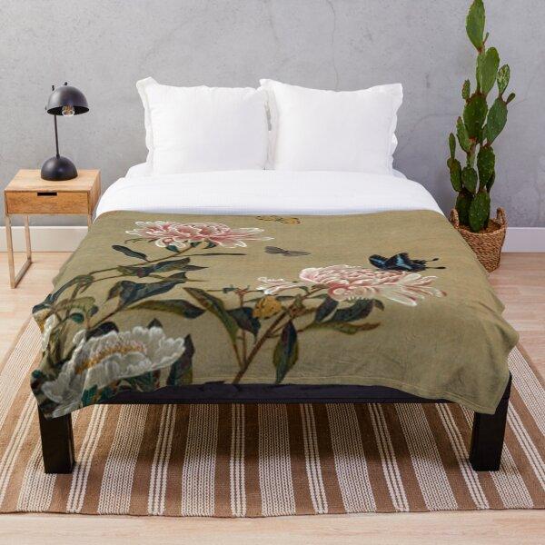 Favourite Artists - Peonies & Butterflies - Jakuchū Ito Throw Blanket