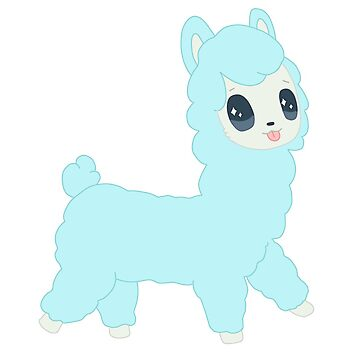 Baby Blue Chibi Alpaca T-Shirt by Navypaw