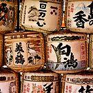 Japanese Sake Drums, Hiroshima Japan 2008 by Tash  Menon