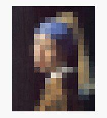 pixel pearl girl Photographic Print