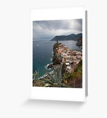 Cloudy Cinque Terre Greeting Card