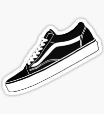VANS Low Tops black white Sticker b92eab018bf6