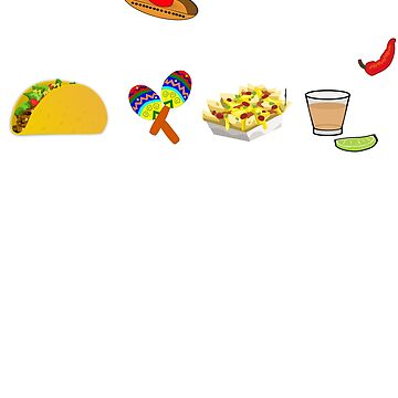 Taco squad - Taco party shirt guacamole nachos maracas and tequila by UniverseZen