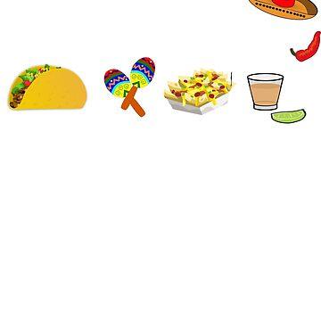 Team Taco - Taco party shirt guacamole nachos maracas and tequila tee by UniverseZen