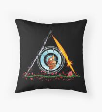 Deathly Detectives (Full Color) Throw Pillow