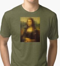 mona pixel lisa Tri-blend T-Shirt