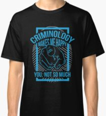 Criminology - Law And Order - Crime Fighter - Crime And Punishment - Crime Fighting - Law Enforcement Mug - Crime Drama - Organized Crime Classic T-Shirt