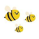 Bees working hard, playing harder  by Berker Sirman