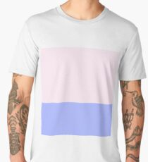 Pink and Blue Color Block Men's Premium T-Shirt