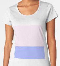 Pink and Blue Color Block Women's Premium T-Shirt
