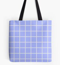 Blue Grid Tote Bag