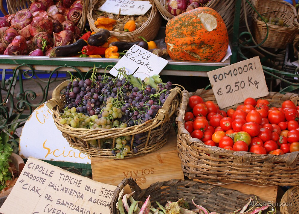 Market in Monterosso, Italy by Alison Simpson
