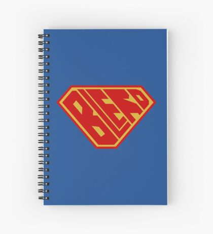 Blerd SuperEmpowered (Red and Gold) Spiral Notebook