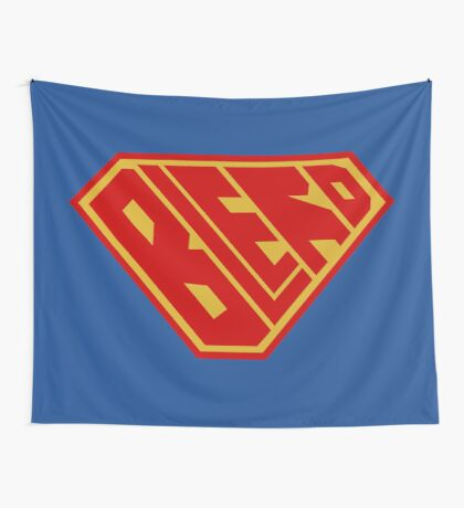 Blerd SuperEmpowered (Red and Gold) Wall Tapestry