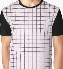 Pink Grid Graphic T-Shirt