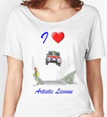 I Love Artistic License Women's Relaxed Fit T-Shirt