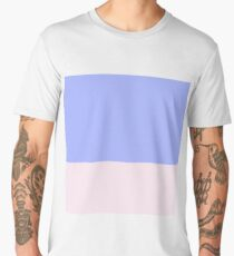 Blue and Pink Color Block Men's Premium T-Shirt