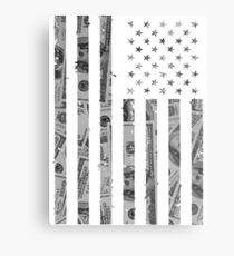 American Flag Money Metal Print