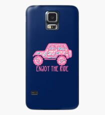 Floral Jeep (pink) Case/Skin for Samsung Galaxy