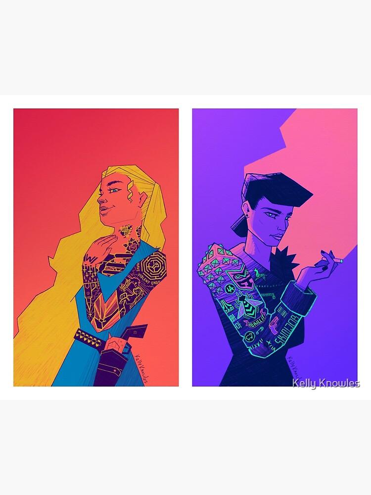 Cyberpunkettes by kelly-knowles