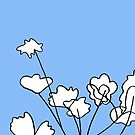 Flowers - 08 on Light Blue Board by Istvan Ocztos