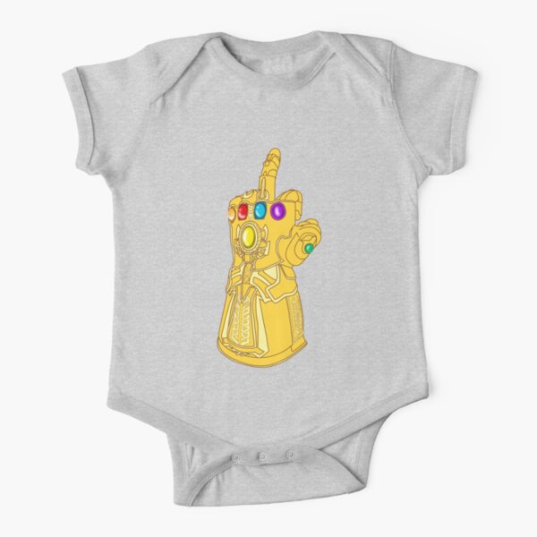 Infinity Finger Short Sleeve Baby One-Piece